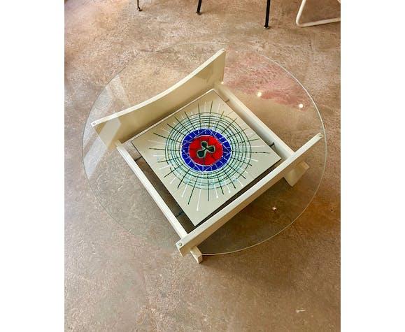 Table basse bois et céramique