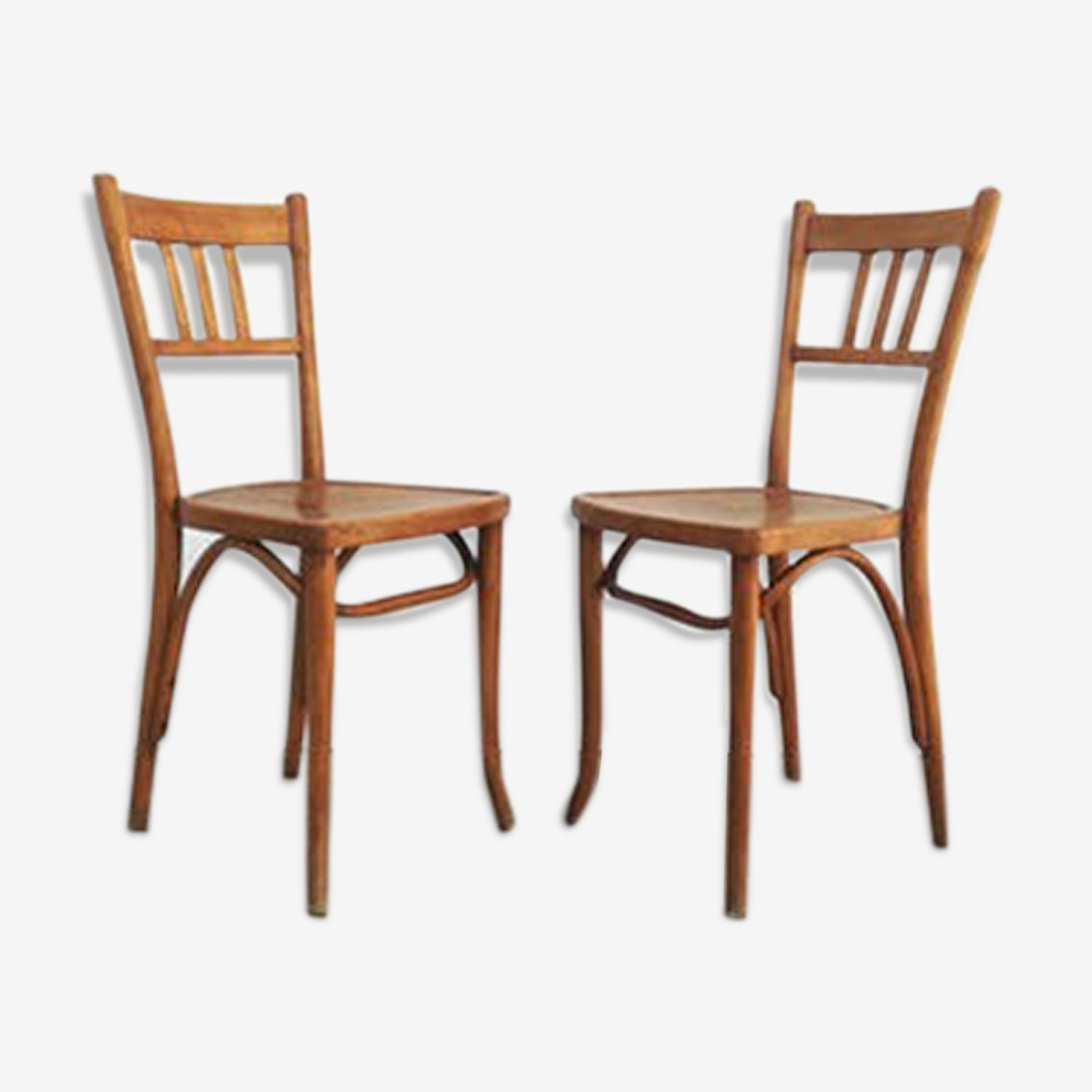 Pair of chairs bistro Thonet