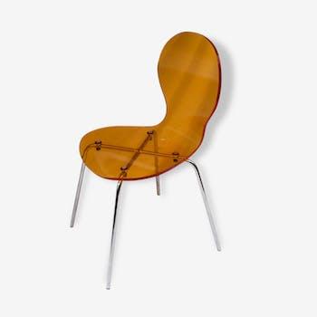 Chaise plexy ensoleillé et inox