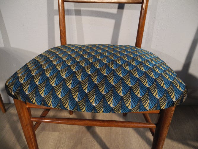 Set of 4 chairs re-paper reason 1950s/1960s
