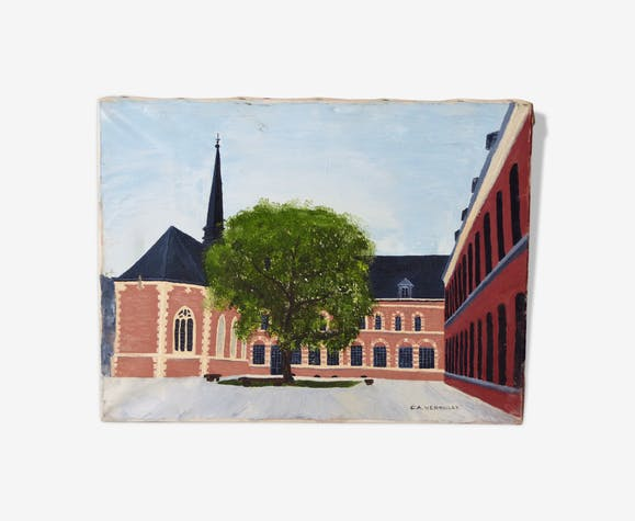 Oil on canvas by Verhulst