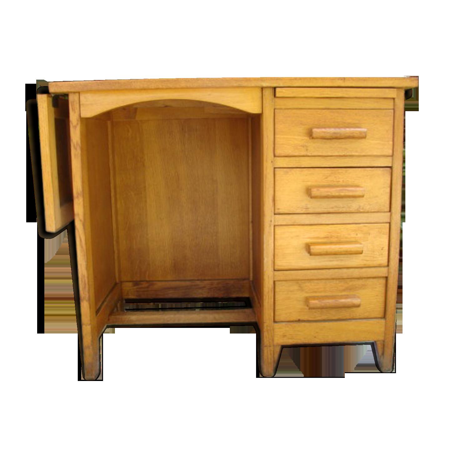 Bureau chêne clair vintage bois matériau bois couleur