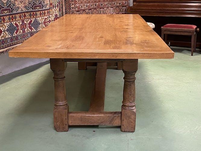 Table anglaise en chêne - début XXème