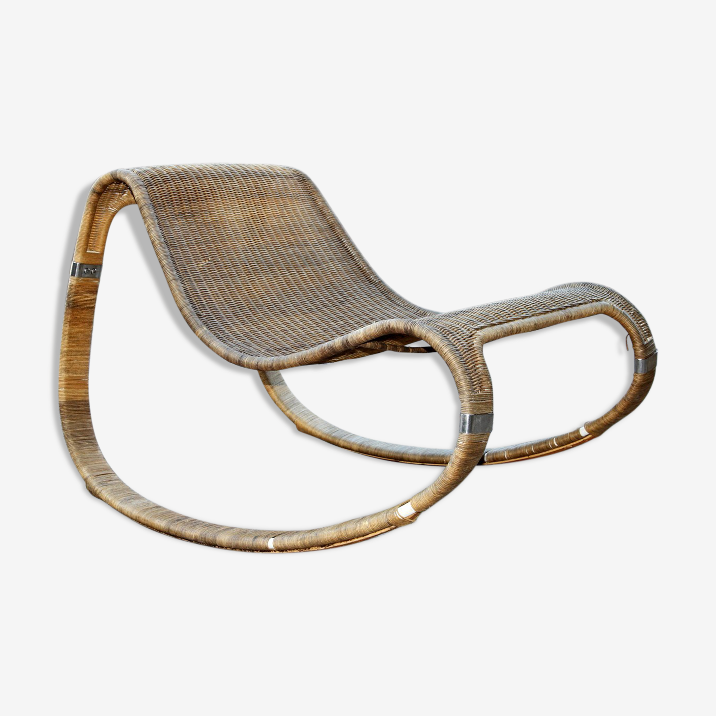 Rocking-chair en osier