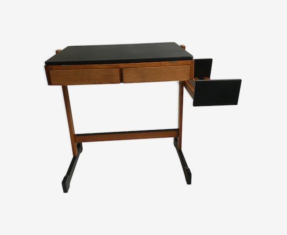 Bureau scandinave noir et bois bois matériau bois couleur