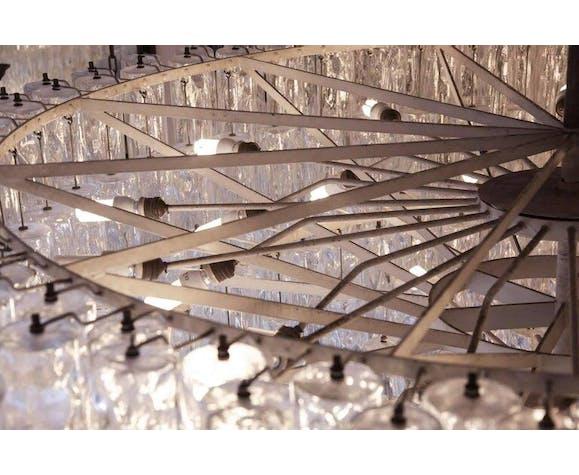 Italian chandelier Barovier Toso Venetian, 1950s
