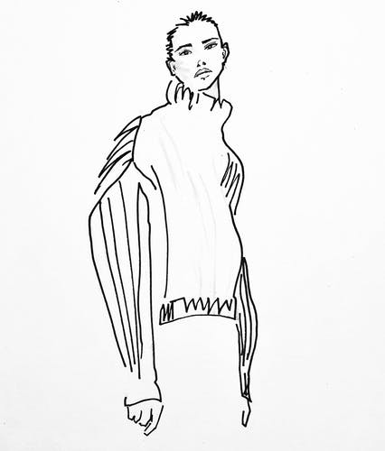 Illustration originale de mode