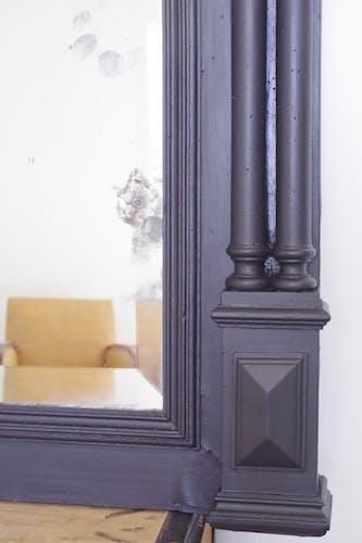 Intense old black trumeau 89x112cm