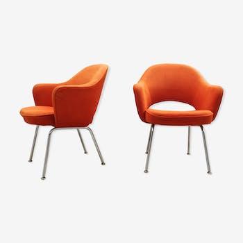"""Paire de fauteuils """"conférence"""" Eero Saarinen pour Knoll années 60"""