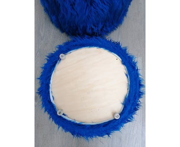 Electric blue chest pouf