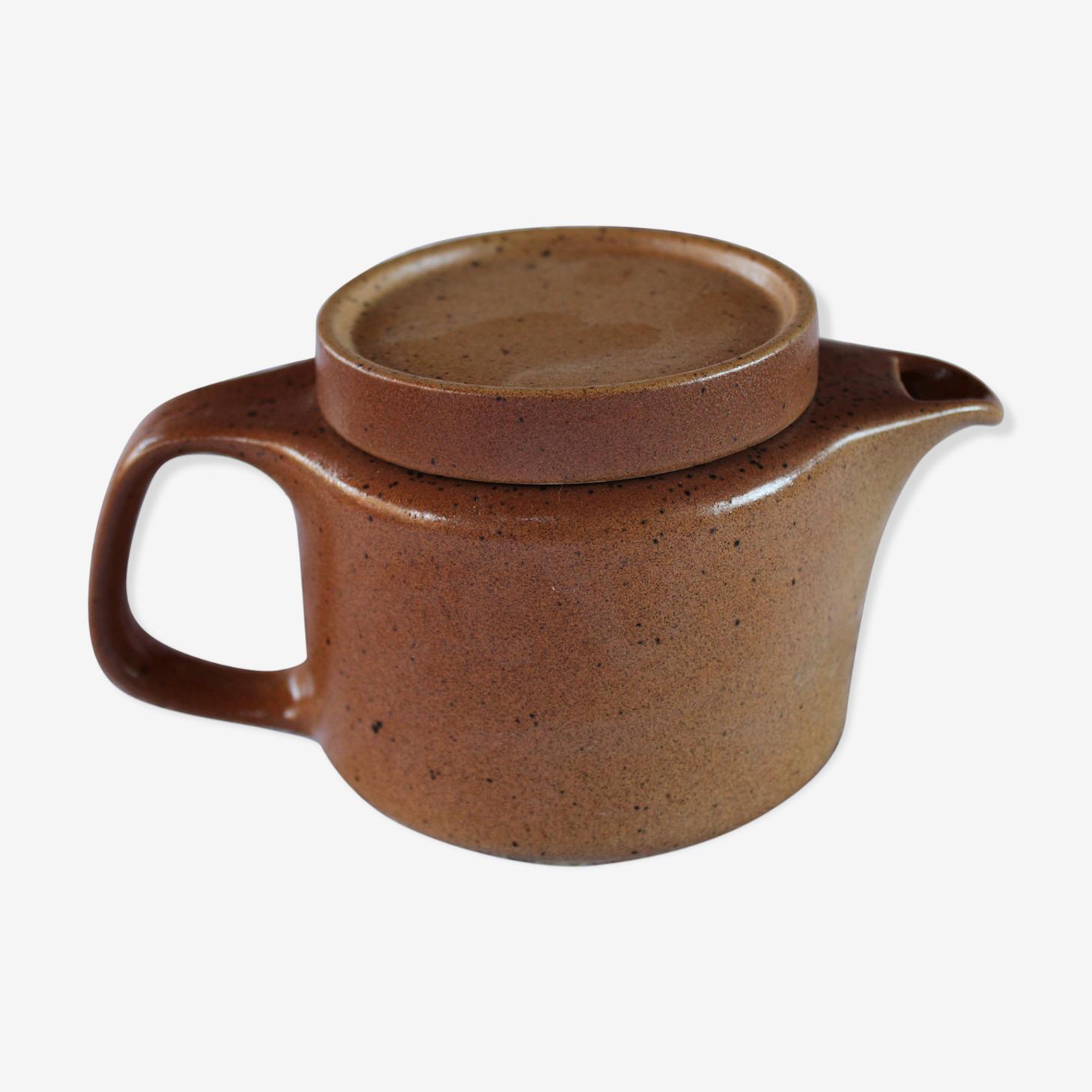 Stoneware teapot signed