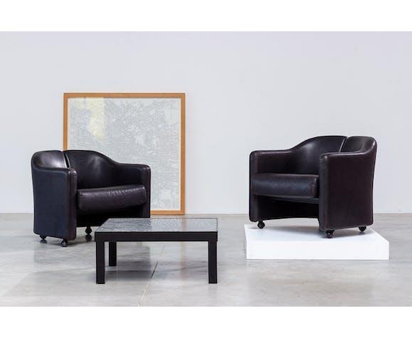 Deux fauteuils Eugenio Gerli de la série 142 Tecno 1960