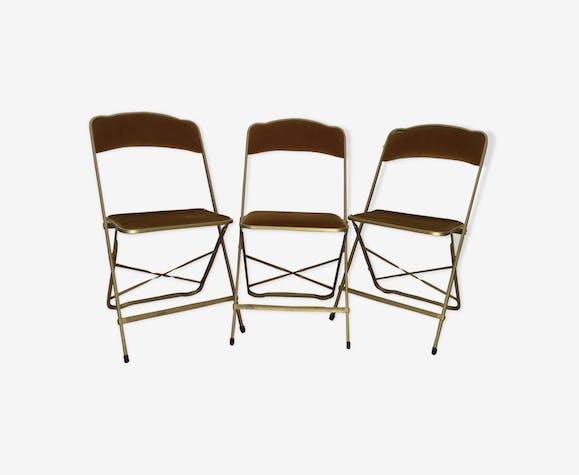 Lot de 3 chaises pliantes