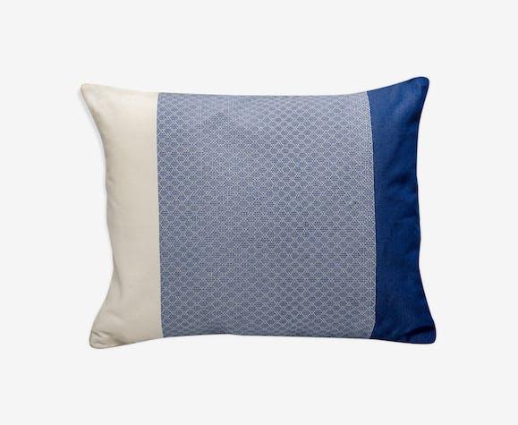 Large bright blue cushion