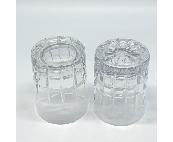 6 verres à whisky en cristal