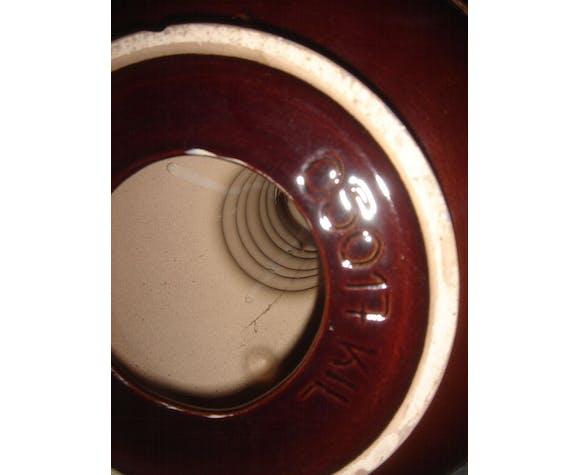 1970 enamelled ceramic seventies lamp