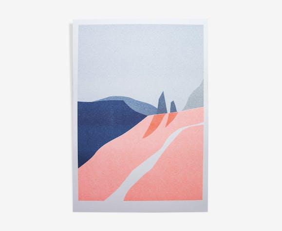 Illustration - landscape a4