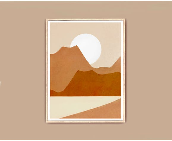 Illustration Mountain View A3