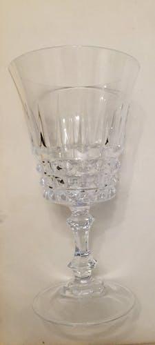 Ensemble de 6 verres à vin en cristal