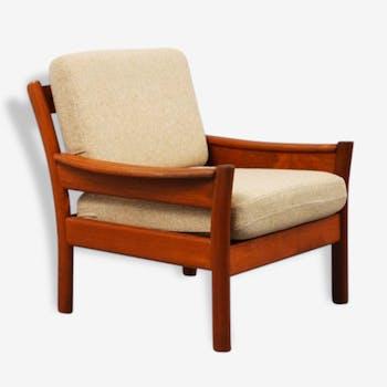 Chair teak manufactured by Dyrlund, Denmark