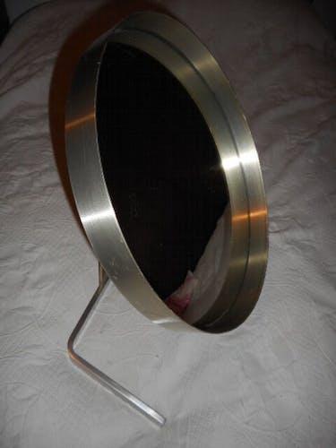 Miroir orientable alu brossé 52cm