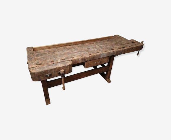 Établi en bois de hêtre