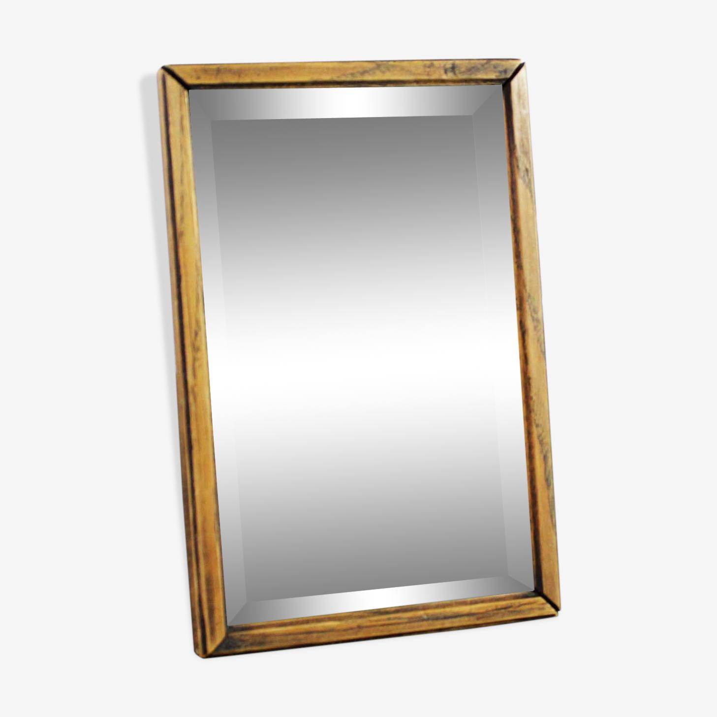 Miroir de barbier biseauté années 20 18x12cm