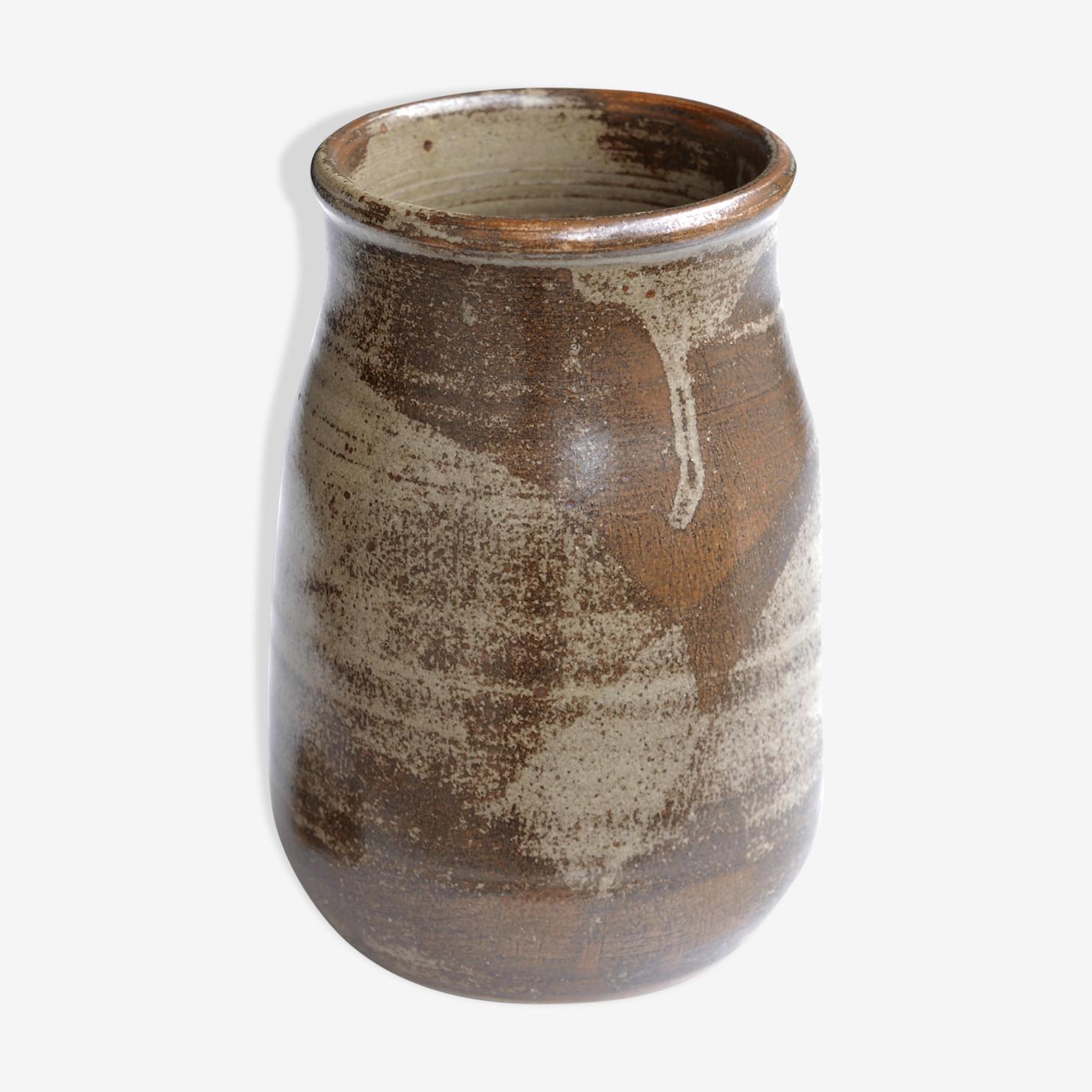 Vase en grès signé Les Cyclades Anduze de Roland Zobel, années 60