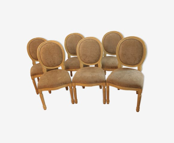 Set of 6 chairs medallion