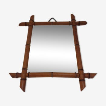 Mirror wood imitation bamboo years 30-40 31, 5 x 25, 5 cm