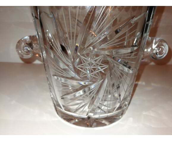 Seau à champagne vintage en cristal
