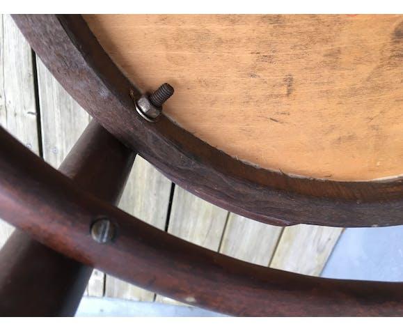Set de 4 chaises de bistrot assises avec motifs
