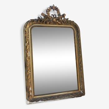 Miroir ancien plâtre & bois doré Magic'Puce