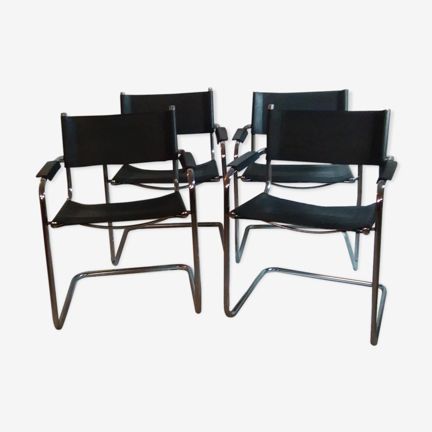 Série de 4 fauteuils par Mart Stam des années 1970