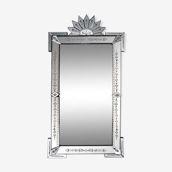 Large Art Deco Italian Venetian Mirror 1920s 96x180cm