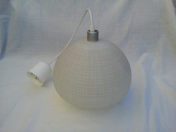 Glass hanging lamp 1960