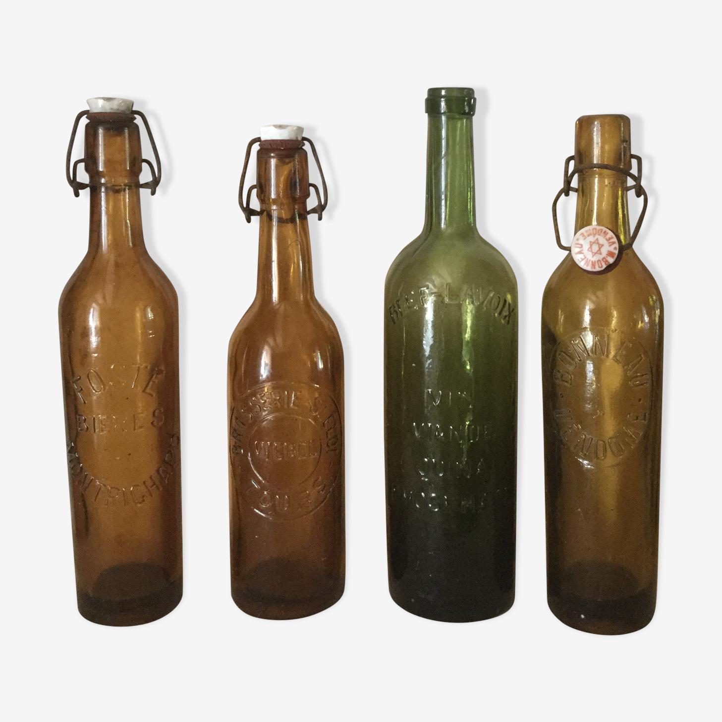Quartet of bottles old 1900