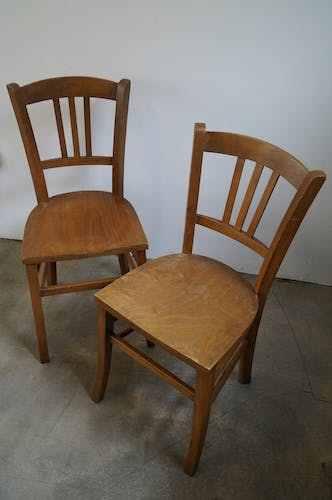 Bistro chairs pair 1950