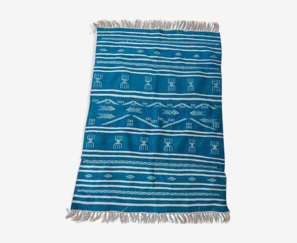 Tapis kilim bleu 142x100cm