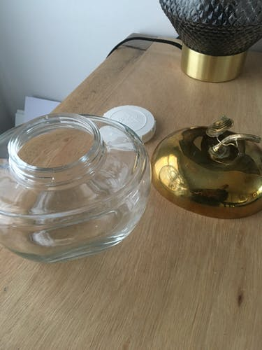 Brass apple-shape candy box