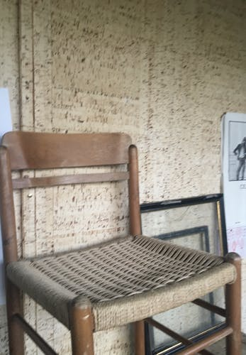 Chaise bois et  ficelles tressées