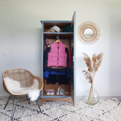 Armoire vestiaire vintage rénovée