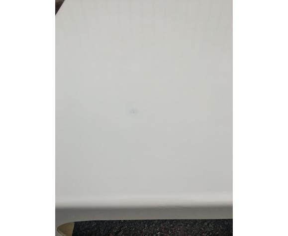 Table basse fibre de verre Prisunic, blanche