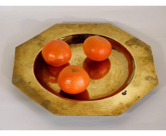 27 cm golden brass tray