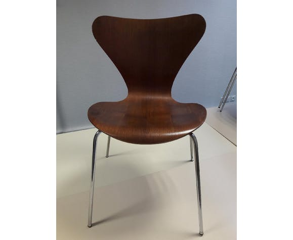 Lot de 10 chaises fourmis de Jacobsen pour Fritz Hanzen 1978