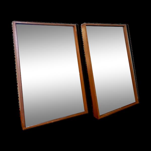 Paire de miroirs par Alfred Cox, design danois de milieu de siècle