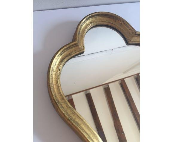 Miroir doré style baroque - 26x34cm