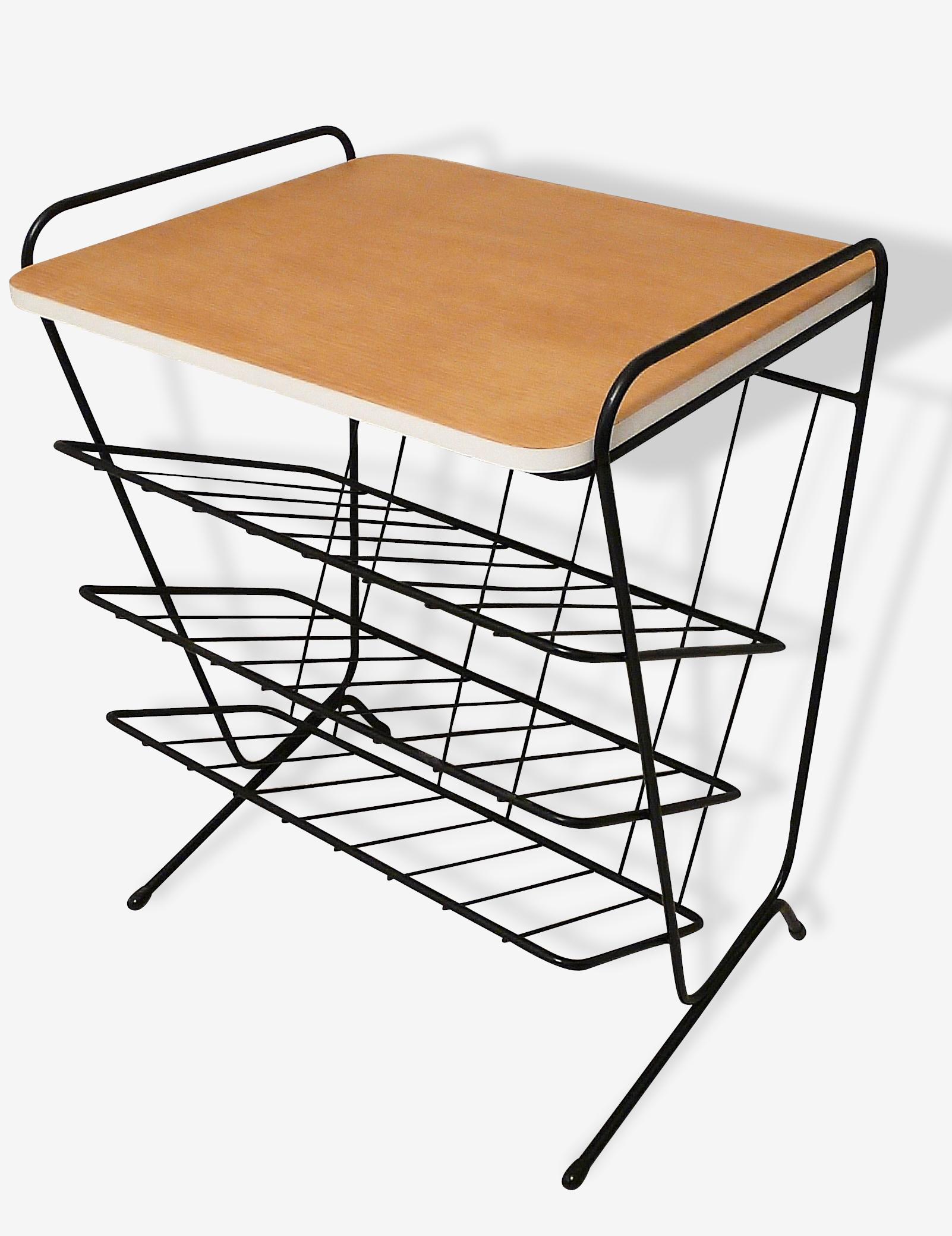 Table triple porte-vinyls