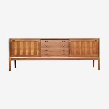 Sideboard in teak by HW Klein for Bramin 225cm