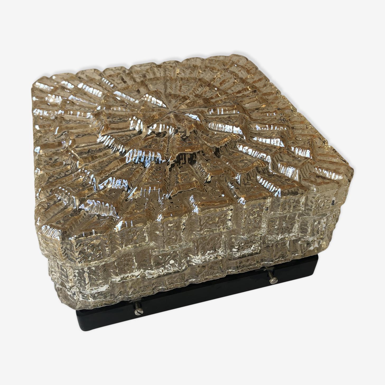 Applique verre moulé effet glace
